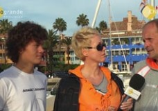 Enrique and Hugo Claassen sail into Sotogrande to highlight problems of dyslexic children in Holland – Dec. 2012