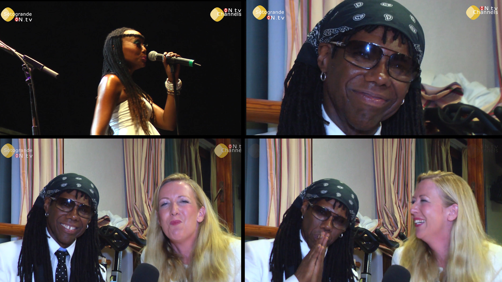 EXCLUSIVE interview with music legend Nile Rodgers – Marbella Concert – 2012