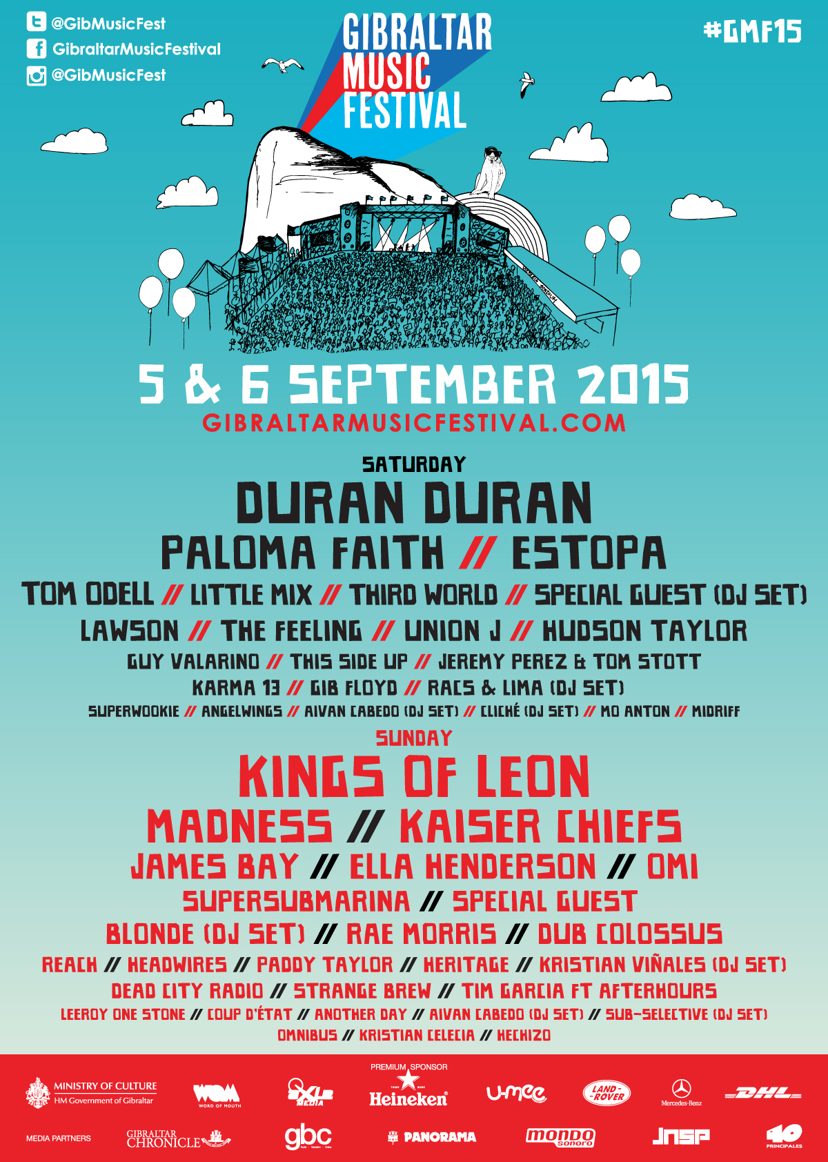 Gibraltar Music Festival – 5th & 6th Sept. 2015