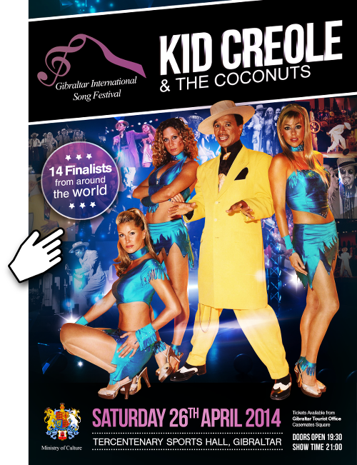 Gibraltar International Song Festival 2014 – with Kid Creole & The Coconuts
